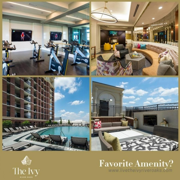Distinguished living is the standard at The Ivy. • What's your favorite community convenience or amenity? Let us know in the comments below! • • • • •#ivyriveroaks #theivy #liveivy #houstonliving #houstonapartments #houstonapts #riveroaks #uptownhouston #riveroakshouston #memorialpark #uptownapartment #riveroaks #waterwallhouston